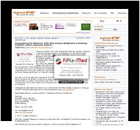 Webscreen - OPEN PR Pressemitteilung, FiPla-Med, Hamburg-Volksdorf