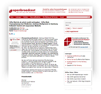 Webscreen - OPENBROADCAST Pressemitteilung, FiPla-Med, Hamburg-Volksdorf