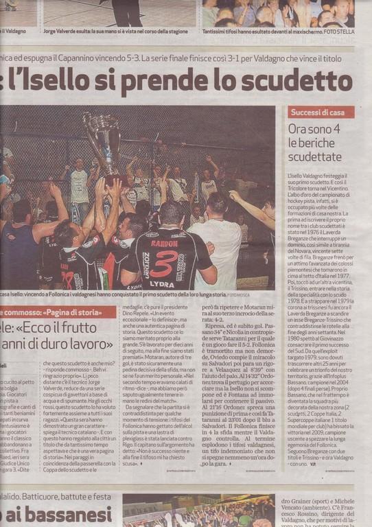 IL GIORNALE DI VICENZA - MERCOLEDI' 09 GIUGNO 2010 - pag. 43