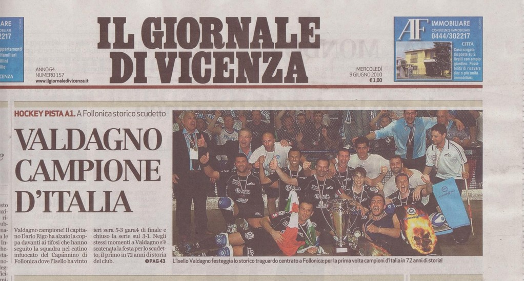 IL GIORNALE DI VICENZA - MERCOLEDI' 09 GIUGNO 2010 - pag. 1