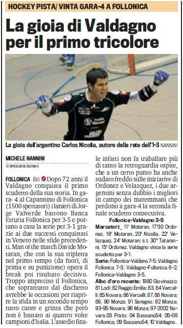 LA GAZZETTA DELLO SPORT - MERCOLEDI' 09 GIUGNO 2010 - pag. 39