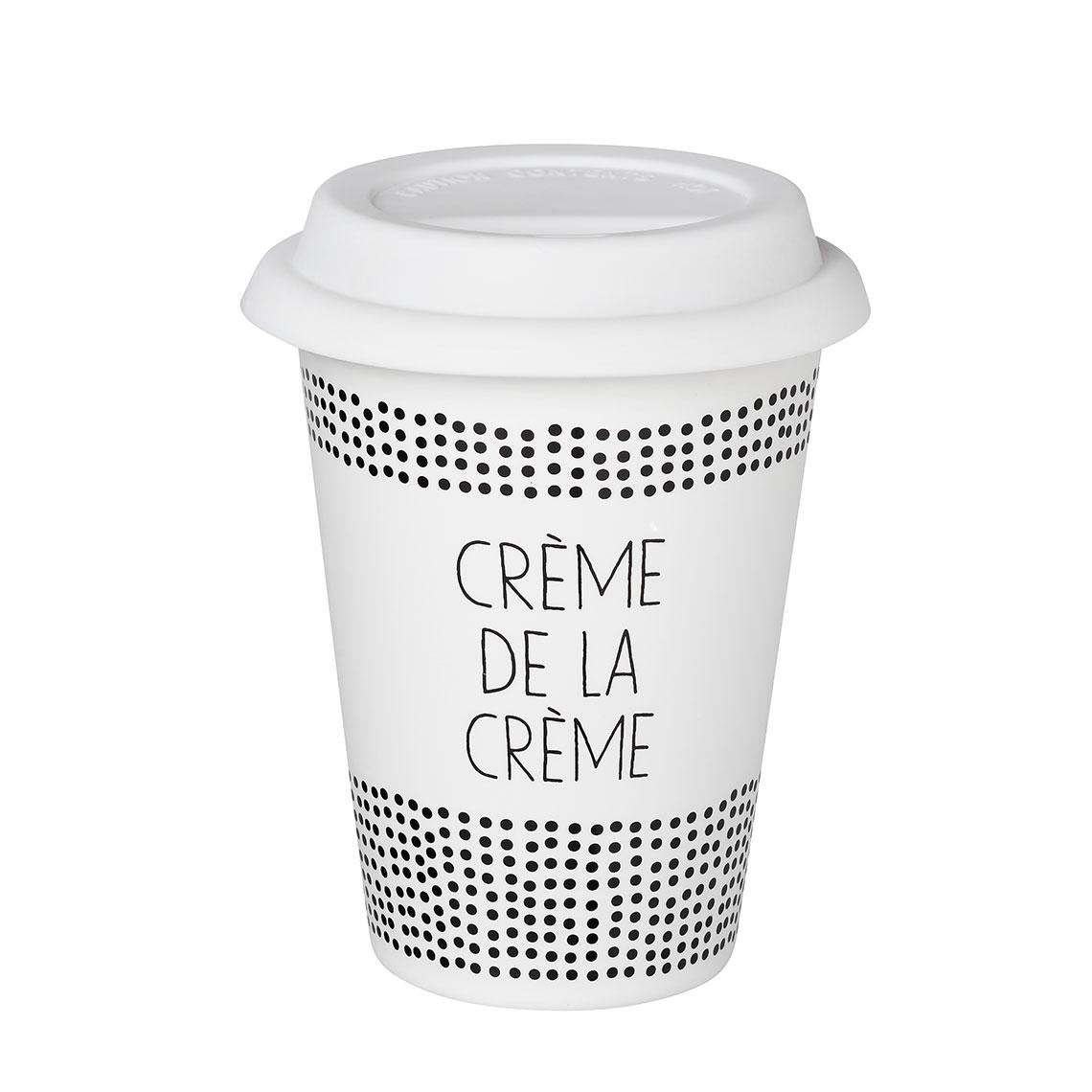 """Thermobecher """"Crème de la Crème"""". Räder Design."""