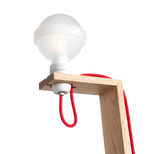 big stehlampe aus eiche von raumgestalt kochzeit i. Black Bedroom Furniture Sets. Home Design Ideas