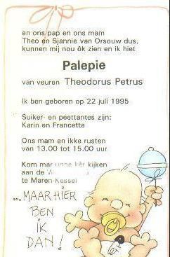 """Theo van Orsouw is zo trots op zijn rol dat hij zijn zoon """"Palepie"""" noemt naar de rol van Leo Bongers in de film."""
