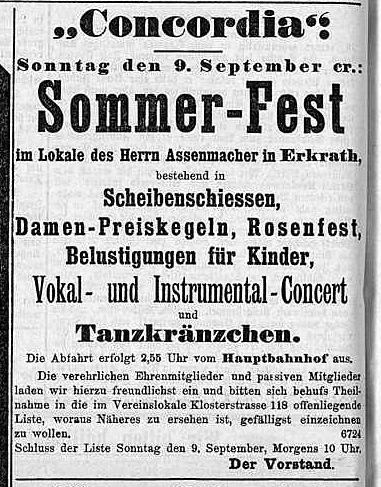 Sommerfest Concordia