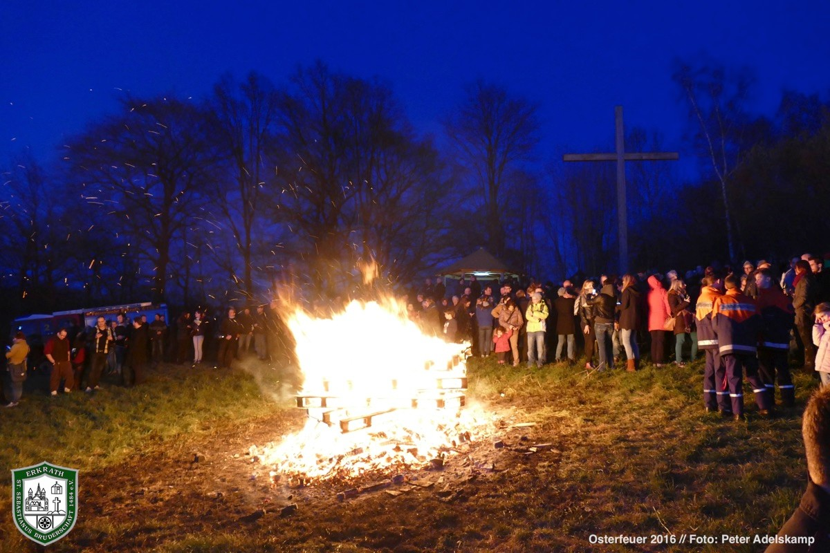 Osterfeuer 2016. Foto: Peter Adelskamp
