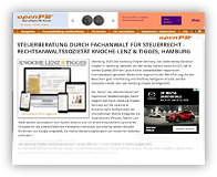 Grafik: Preview Pressemitteilung OPENPR: STEUERBERATER / ANWALT FÜR STEUERBERATUNG - RECHTSANWALTSSOZIETÄT KNOCHE-LENZ & TIGGES, HAMBURG