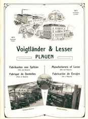 Geschäftsanzeige der Firma Voigtländer & Lesser