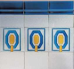 Originale Villeroy & Bock-Kacheln im Eingangsbereich