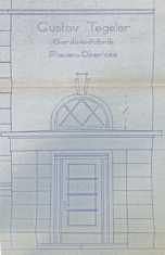 Planungszeichnung des Eingangsbereiches von 1939