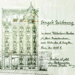Rähnisstraße 40, Fassadendetail