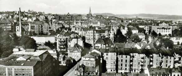 Ziegel- und Karlstraße, Plauen, um 1930
