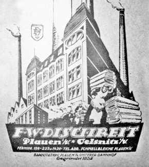 Firmenanzeige der Firma F. W. Dichreit 1930
