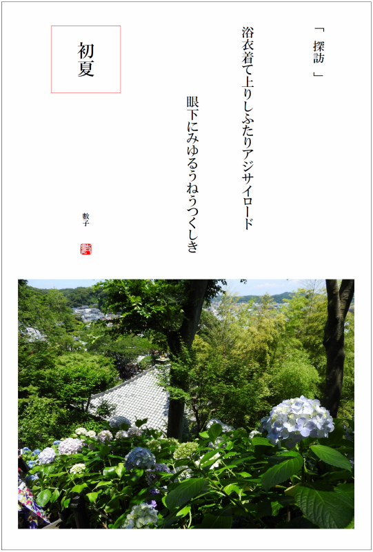 2016/07/04制作 鎌倉長谷寺アジサイロード