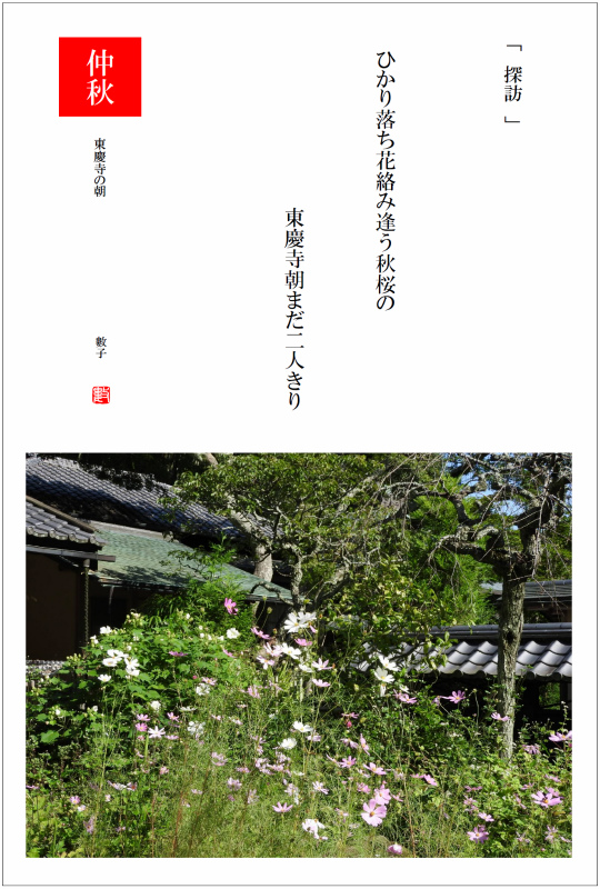 2017/10/19制作 鎌倉東慶寺の朝