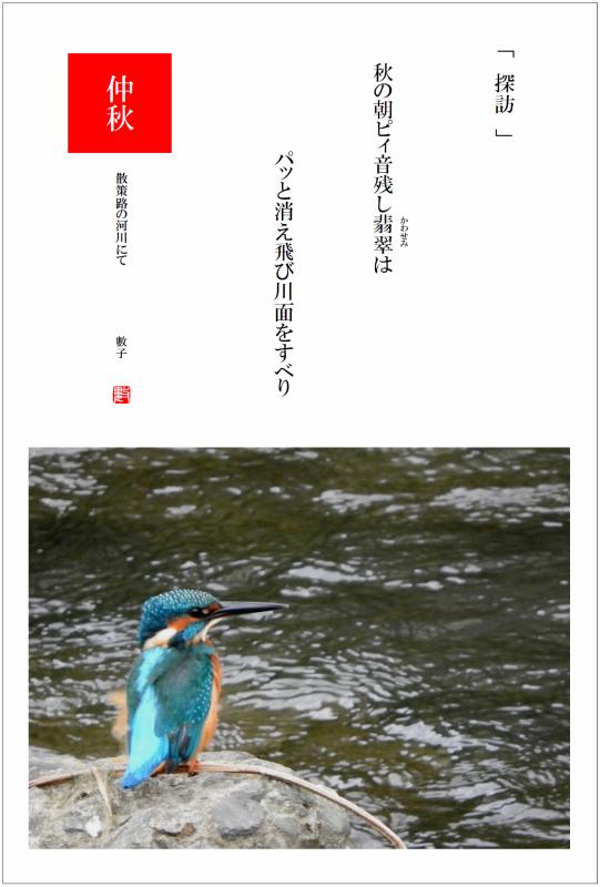 2016/10/28制作 散策路河川の翡翠