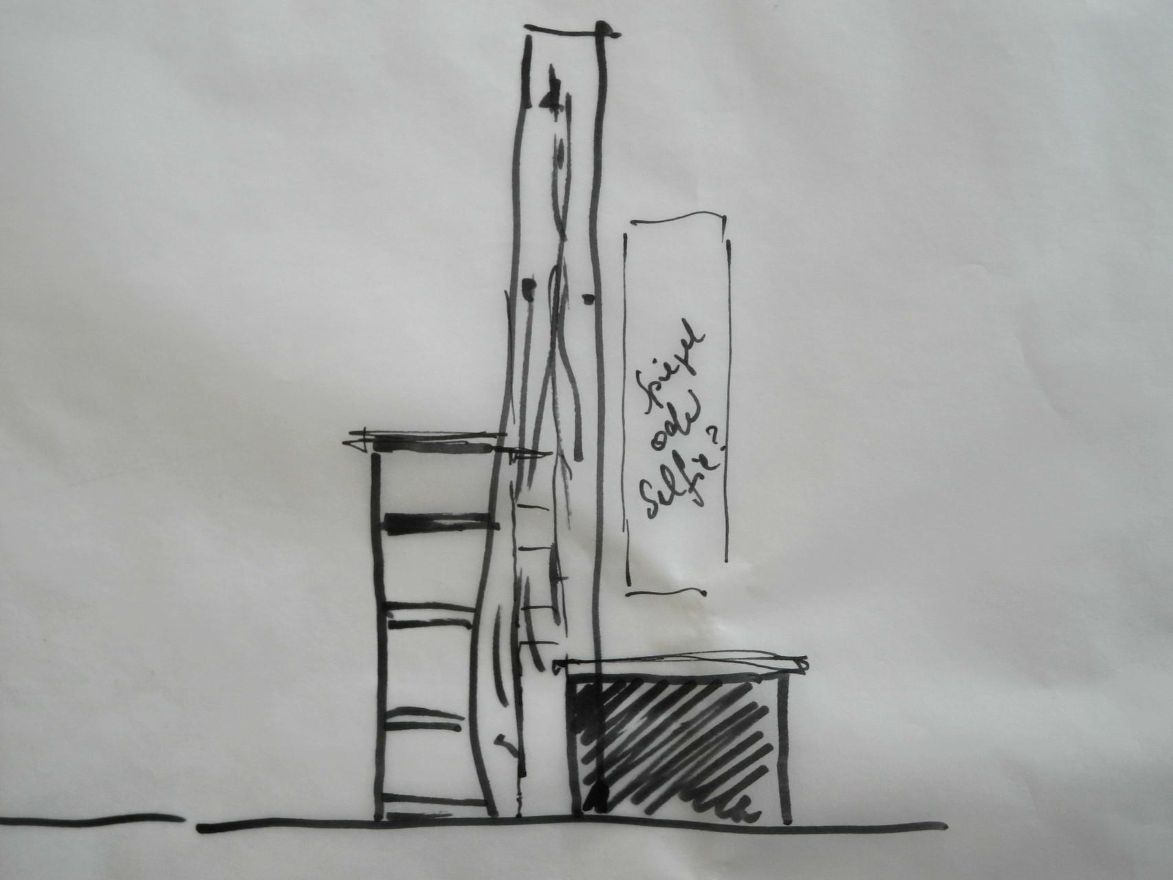 Skizze Garderobenobjekt