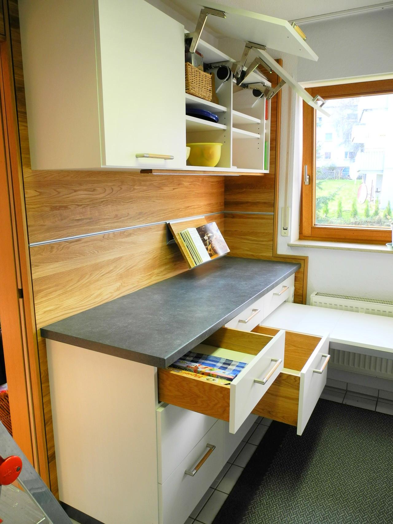 Die fertig eingebaute Küchenzeile