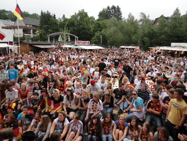 Public Viewing in Bad Marienberg
