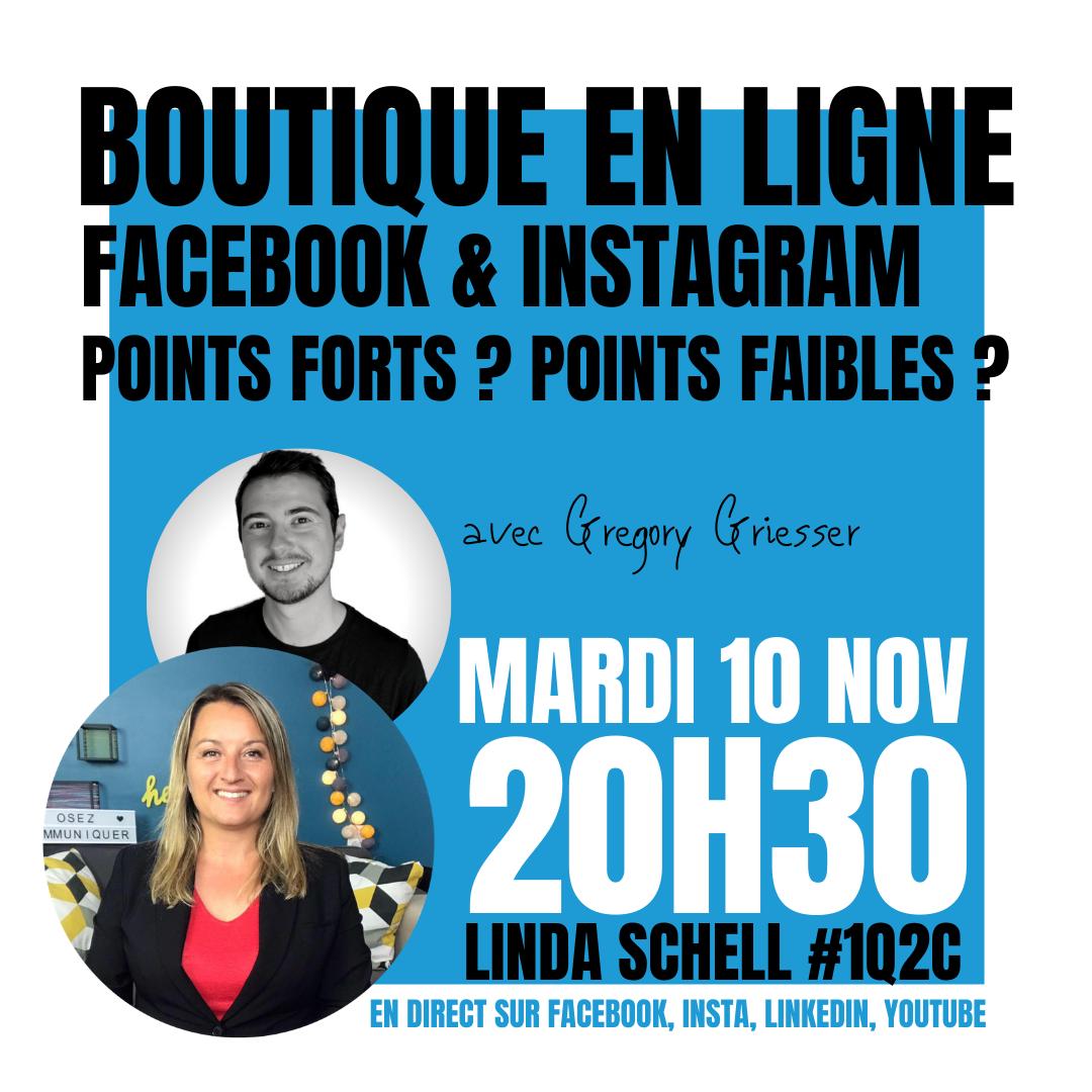 Boutique Facebook & Instagram : points forts et points faibles