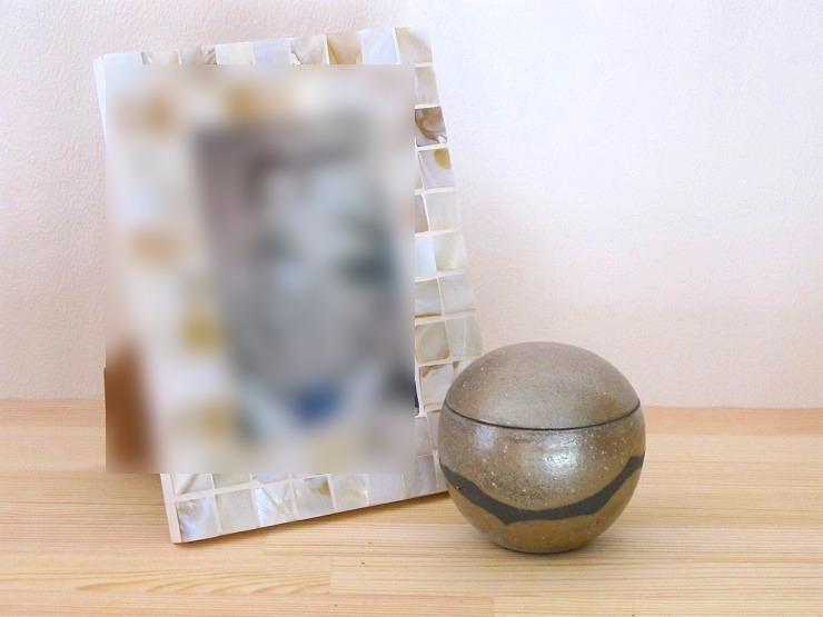 信楽焼の手元供養「こころの杖」ミニ骨壺