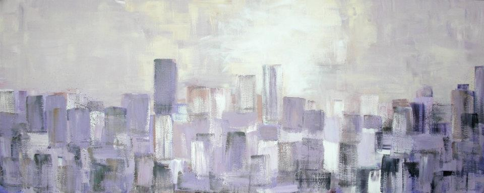 Bangkok sunrise/ oil on canvas / sold