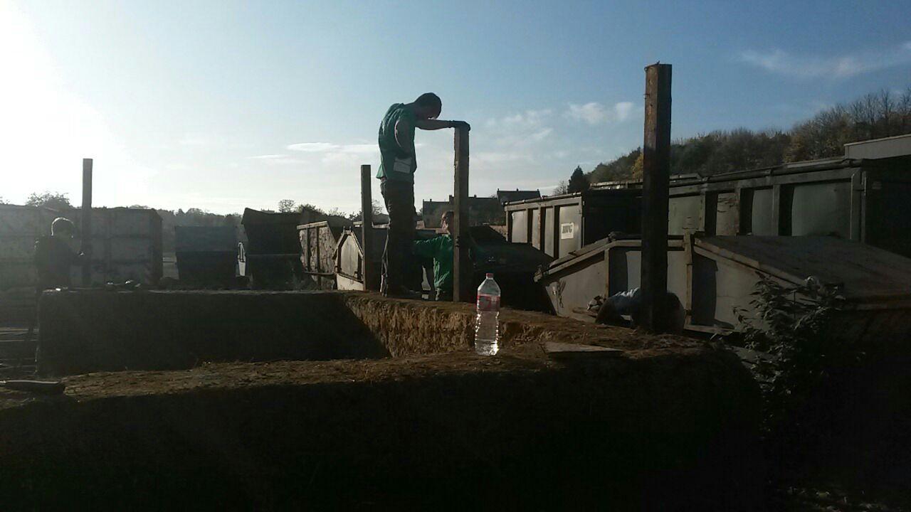Stützung für das Dach