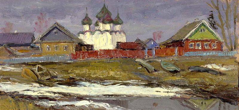 19. На берегу Онеги, к.м. 12,5х26, 1996