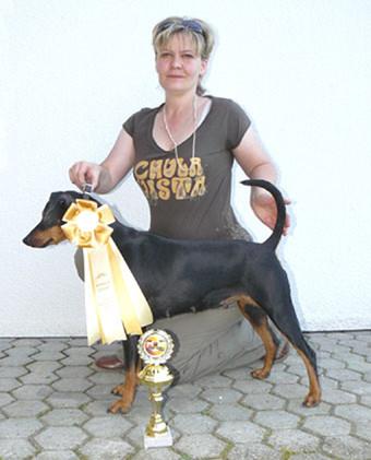 Mit 8 Jahren immer noch Konkurrenzfähig, Shila Doppel-Ausstellung in Saarbrücken 2010, BOB + BOS