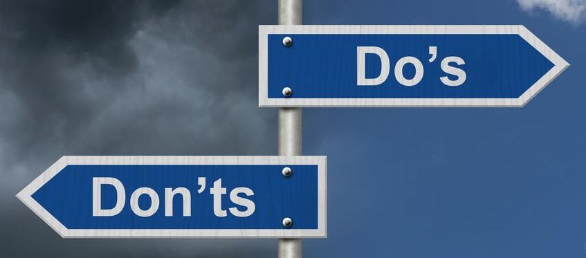 文法のルール、dos & don'ts