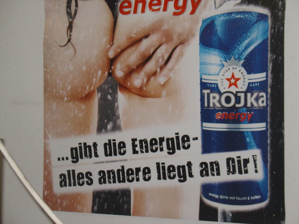 Werbeplakat TROJKA Energy