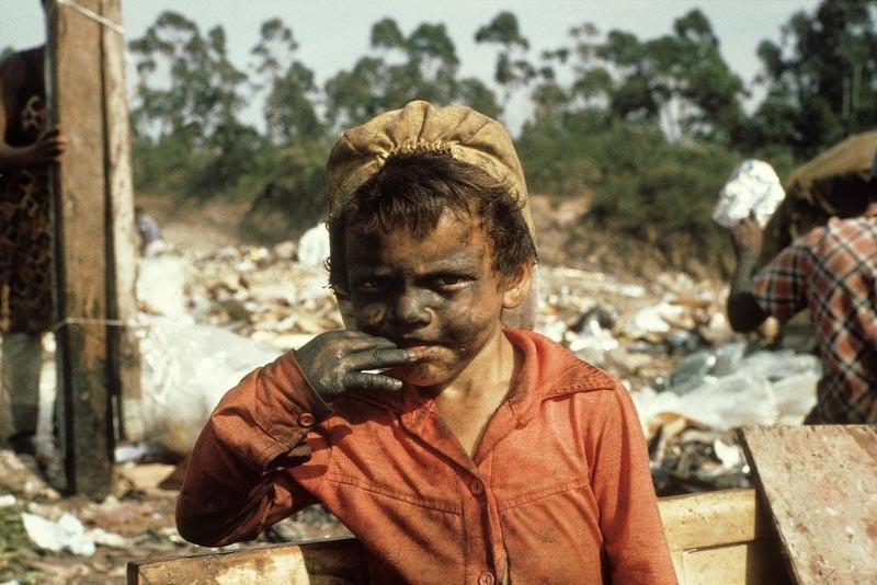 Brasilianisches Strassenkind