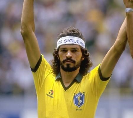 """Fussballspieler """"Sócrates"""" Sócrates Brasileiro Sampaio de Souza Vieira de Oliveira"""