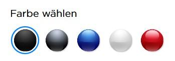 Die 5 Farben des Model 3 (Bild: Tesla)