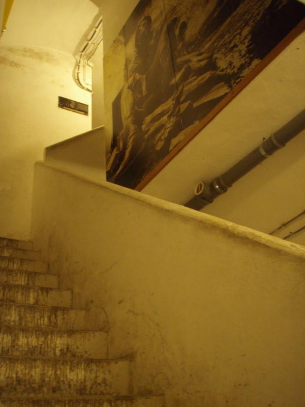 Treppenhaus zwischen den Geschossen
