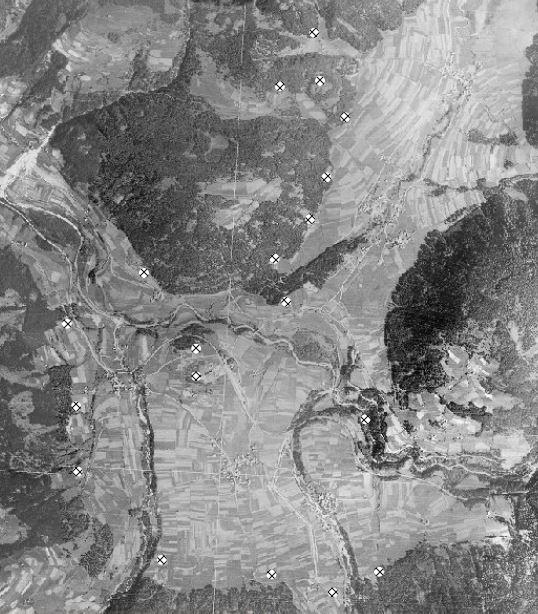 Lustbild 1945 - Bunker Sperre Olang Rasen Antholz