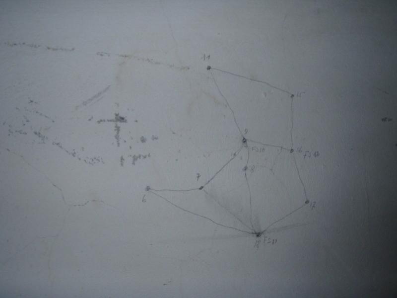 Originalzeichnung der Telefonverbindungen zwischen den Anlagen der Talsperre Olang-Rasen