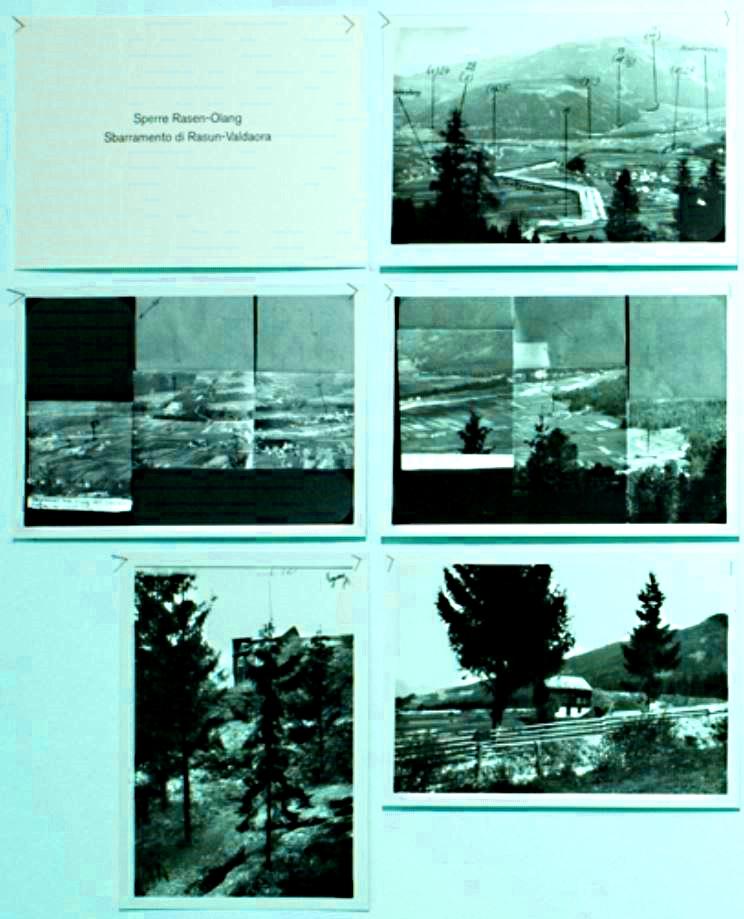 deutsche Spionageaufnahmen des Bunkerbaus in Olang Rasen Antholz - foto di spionaggio nazisti della costruzione dei bunker a Valdaora Rasun Anterselva