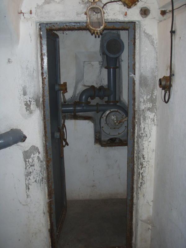 aerazione manuale della camera n° 1