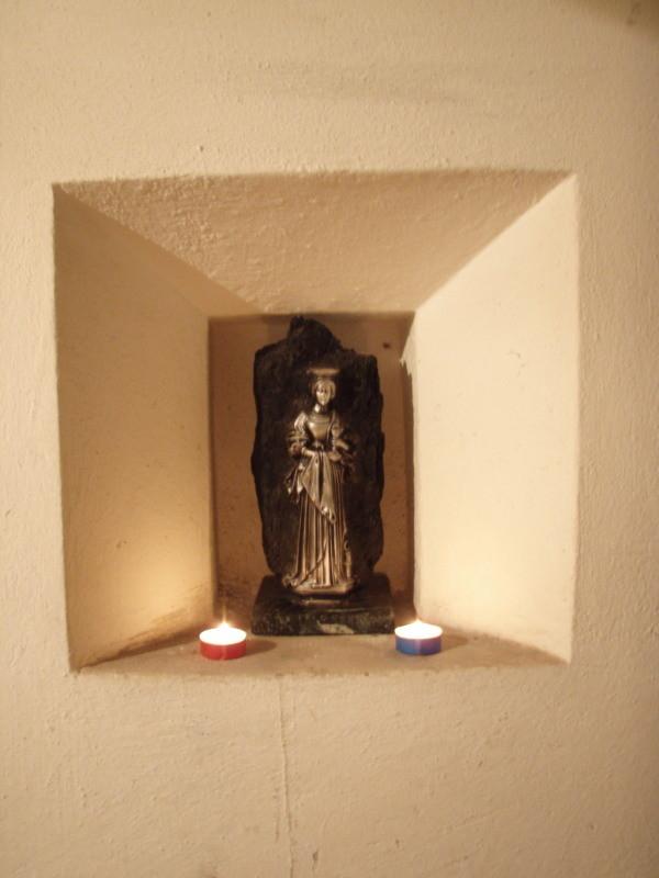 la santa Barbara, santa protetrice per lavori sotterranei ed anche artiglieri