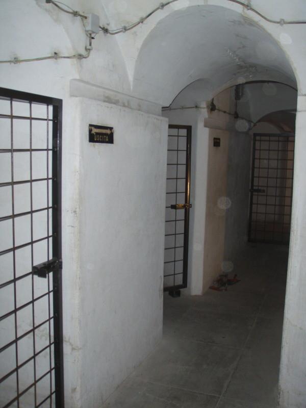 vorne, Zugang zu den Kammern 2 (UG) und 3 (UG), dann zum Medizindepot (Kammer 4 UG) und hinten zur Kammer 5 (UG) - mit Gittertüren versehen