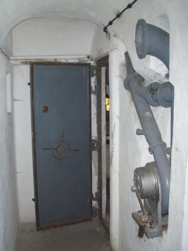 aerazione e porta della camera n° 3