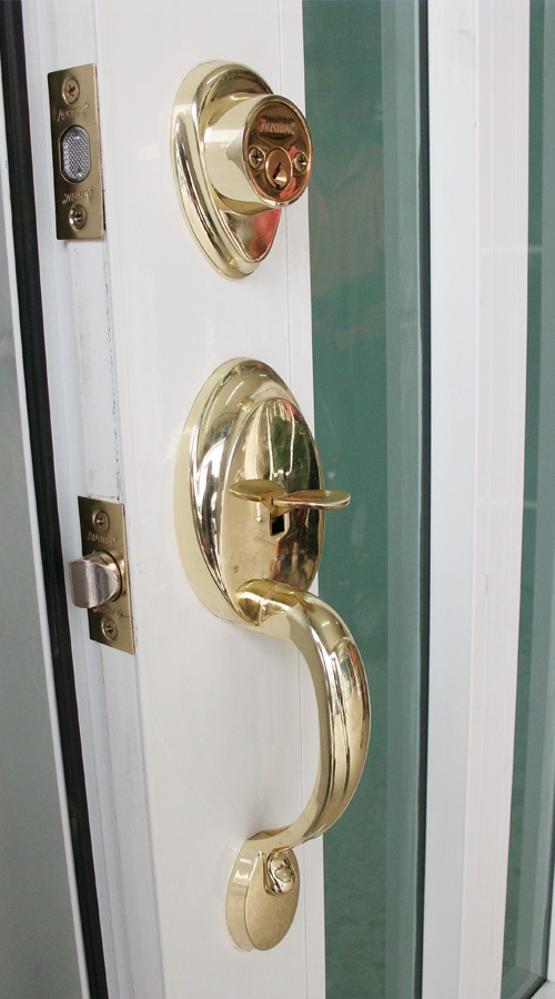 Cerradura para puerta de aluminio / línea española