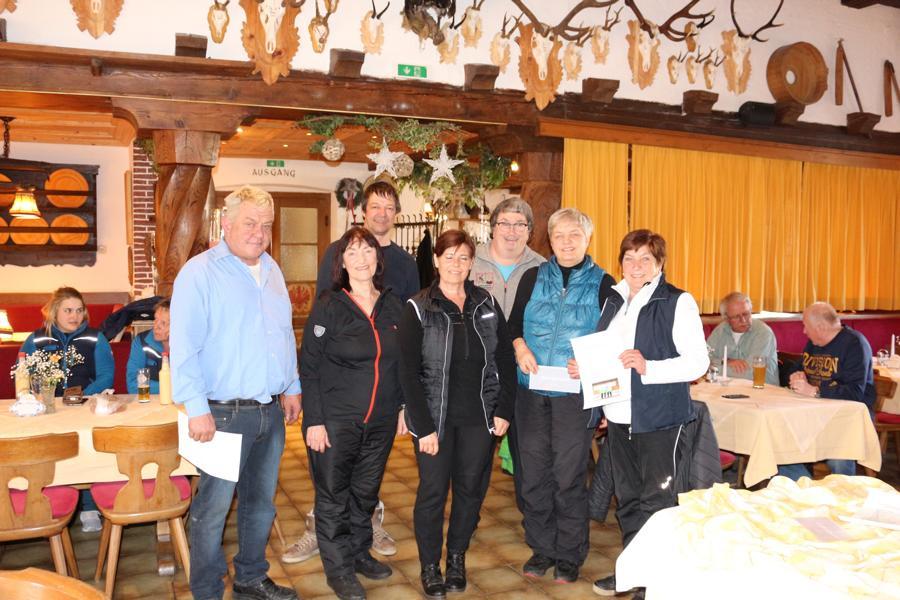 7. Platz: EC Oberndorf II - Emmi Brunner, Monique Kaufmann, Sabine Trabi, Irmi Aschaber