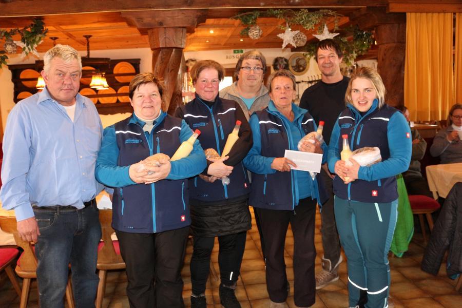 5. u. 6. Platz: EC Brixen - Evi Hirzinger, Bettina Hölzl, Elfriede Straßer, Stefanie Fraunberger