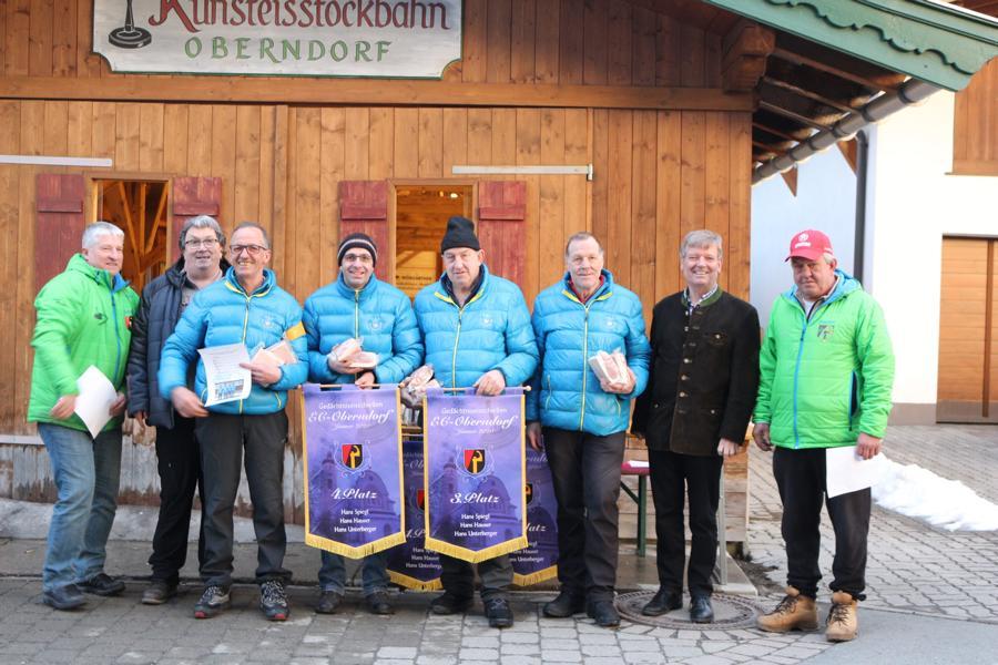 3. und 4. Platz - EV Fieberbrunn II -Markus Holzmann, Tom Seisl, Michael Hochfilzer, Christian Erhart