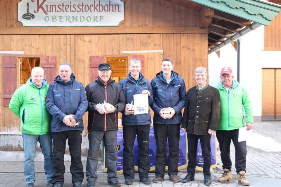 6. und 7. Platz - EC Brixen II -Andi Kofler, Pep Fuchs,  Hubert Auberger, Lukas Schipflinger