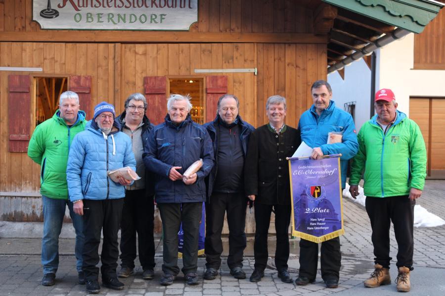 2. Platz - EC Brixen I -  Kurt Zwinz, Hans Boogards, Charly Dummer, Karli Exenberger