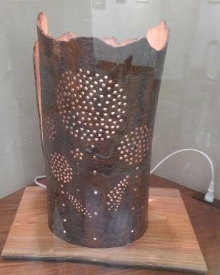 「ランプシェード」大越哲朗 木工細工