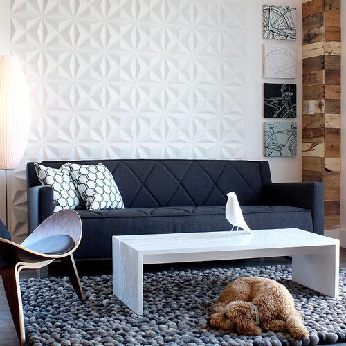 Revêtement Mural Géométrie 3D - Panneau Mural Géométrique Blanc - Mur façon Origami